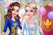 Anna And Elsa Arendelle Ball Girl game