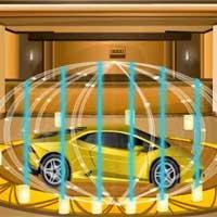 Stealing Golden Car Escape game