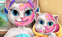 Kitty Mommy: Real Makeover game