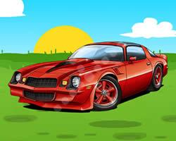 Camaro Coupe Cartoon game