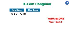 X-Com Hangman game