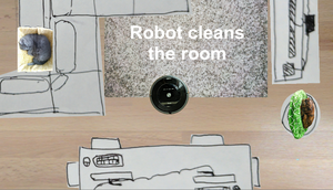 Robot Cleans The Room