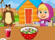 play Masha Cooking Russian Garden Salad