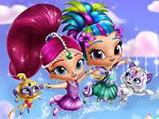 play Shimmer And Shine Dress Up