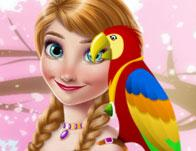 play Ice Princess And Cute Parrot