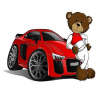 Red Cartoon Teddy Bear Car game