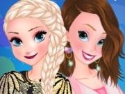 Anna And Elsa Cocktail Dresses game