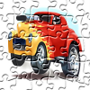 Cartoon Hot Rod Jigsaw game