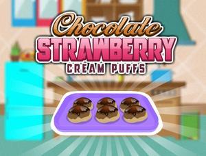 play Chocolate Strawberry Cream Puffs