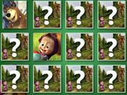 Masha And The Bear Memory game