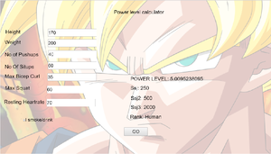 Dbz Power Level Calculator game