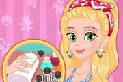 play Rapunzel Matching Nails And Dress Girl
