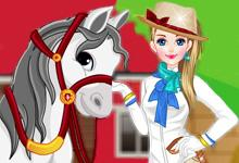 play Girl With Horse Dress Up