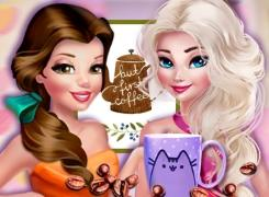 Princesses Fashion Over Coffee game