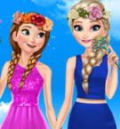 play Frozen Sisters Spring Day