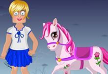 play Zoe With Pony Dress Up