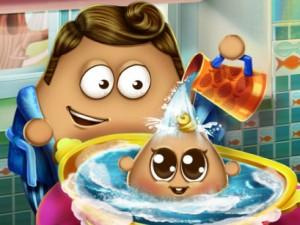 Pou Baby Wash game