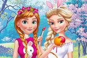 play Anna And Elsa Easter Fun Girl