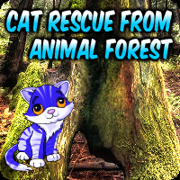 Cat Rescue From Animal Forest game