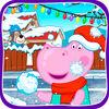 play Funny Kids Snowball Battle