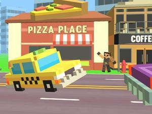 play Pixel Road Taxi Depot