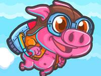play Rocket Pig - Tap To Fly