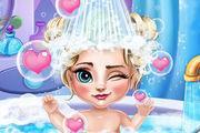 play Ice Queen Baby Bath Girl