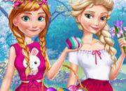 Anna And Elsa Easter Fun game