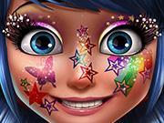 play Ladybug Glittery Makeup