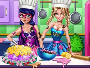 play Super Hero Cooking Contest!