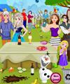 Princesses Outdoor Party Cleaning game