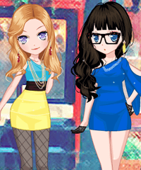 Two Stars Dress Up Game game