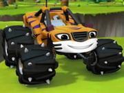 Stripes Monster Machine Jigsaw game