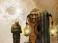 Scary Temple Escape game