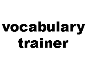 play Vocabulary Trainer