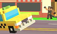 Pixel Road Taxi Depot game