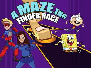 Nickelodeon: A-Maze-Ing Finger Race Puzzle game