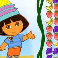 Dora Fruit Slingshot game