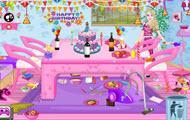 play Barbie Birthday Party Room Cleaning