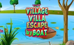 Village Villa Escape By Boat game