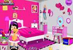 play Barbie Fan Room Cleaning