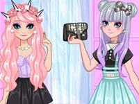 play Frozen Sisters Go Pastel Goth