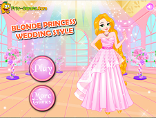 play Blonde Princess Wedding Style
