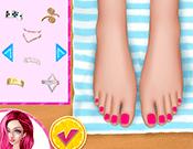 Design My Beach Pedicure game