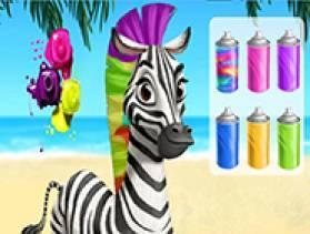 Zebra Caring - Free Game At Playpink.Com game