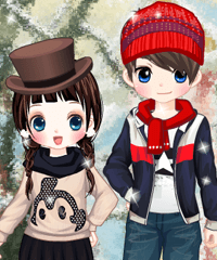 play Winter Date Dress Up Game