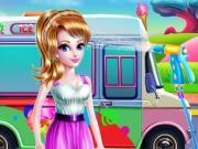 Girly Ice Cream Truck Car Wash game