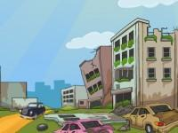 play Car Escape From Dilapidated Area