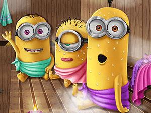 Minions Realife Sauna game