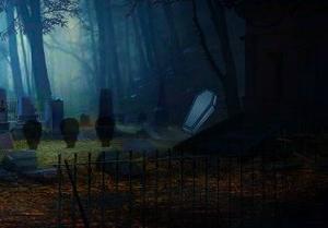 Fantasy Graveyard Escape game